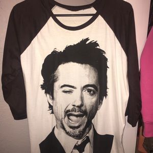 Tops - RDJ and Tom Hiddleston Raglan 3/4 Sleeve Tees